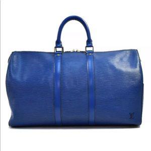 LOUIS VUITTON Epi Keepall 45 Travel Bag